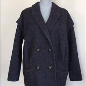 DVF wool blend pea coat